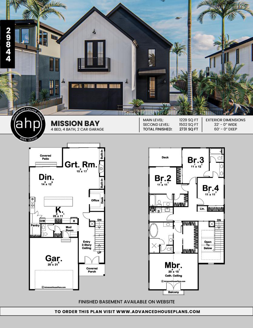 2 Story Modern Farmhouse Style Plan Mission Bay Sims House Plans Narrow Lot House Plans Narrow House Plans