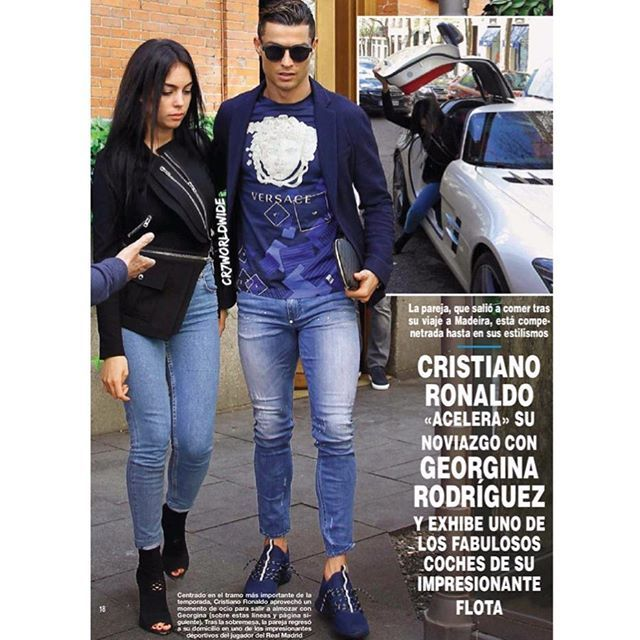 c50490df815  CristianoRonaldo and  GeorginaRodriguez in Madrid after the Airport  dedication ceremony (No exact date).  paparazzi  candids  streetstyle   ronaldo  cr7   ...