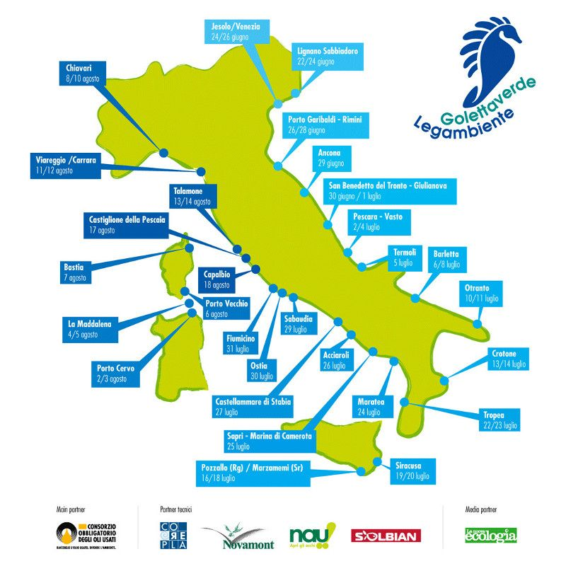 Le tappe del viaggio 2013. Segui la Goletta Verde --> www.legambiente.it/golettaverde