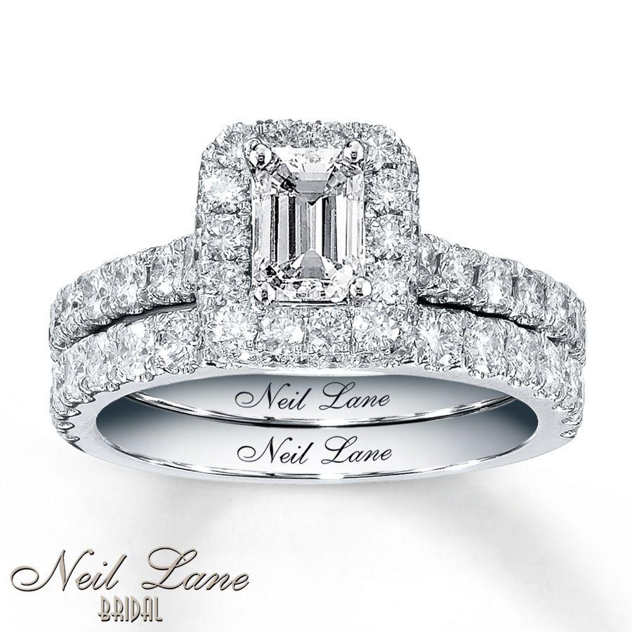 Neil Lane Bridal 1 7 8 Ct Tw Diamond Set 14K White Gold