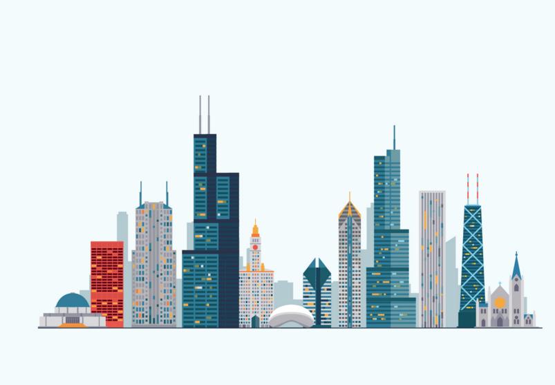 20 City Vector Illustrations Png Vector Eps Files Chicago Skyline Art Chicago Skyline Silhouette Chicago Skyline
