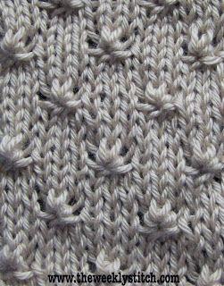 Knötchen Muster Einfach Strickmuster Stricken Häkeln Und