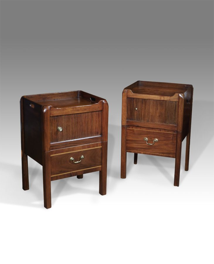 Pair of antique bedside cabinets - Pair Of Antique Bedside Cabinets Antique Bedroom Furniture