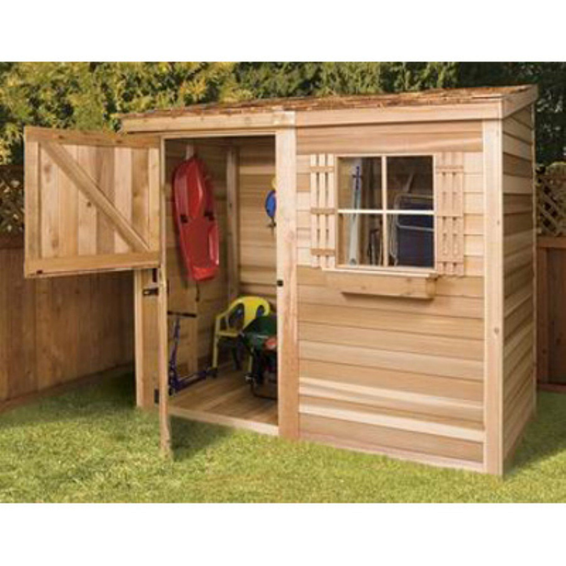 Diy Sheds For Sale: Cedar Shed 8 X 4 Ft. Bayside Wood Storage Shed