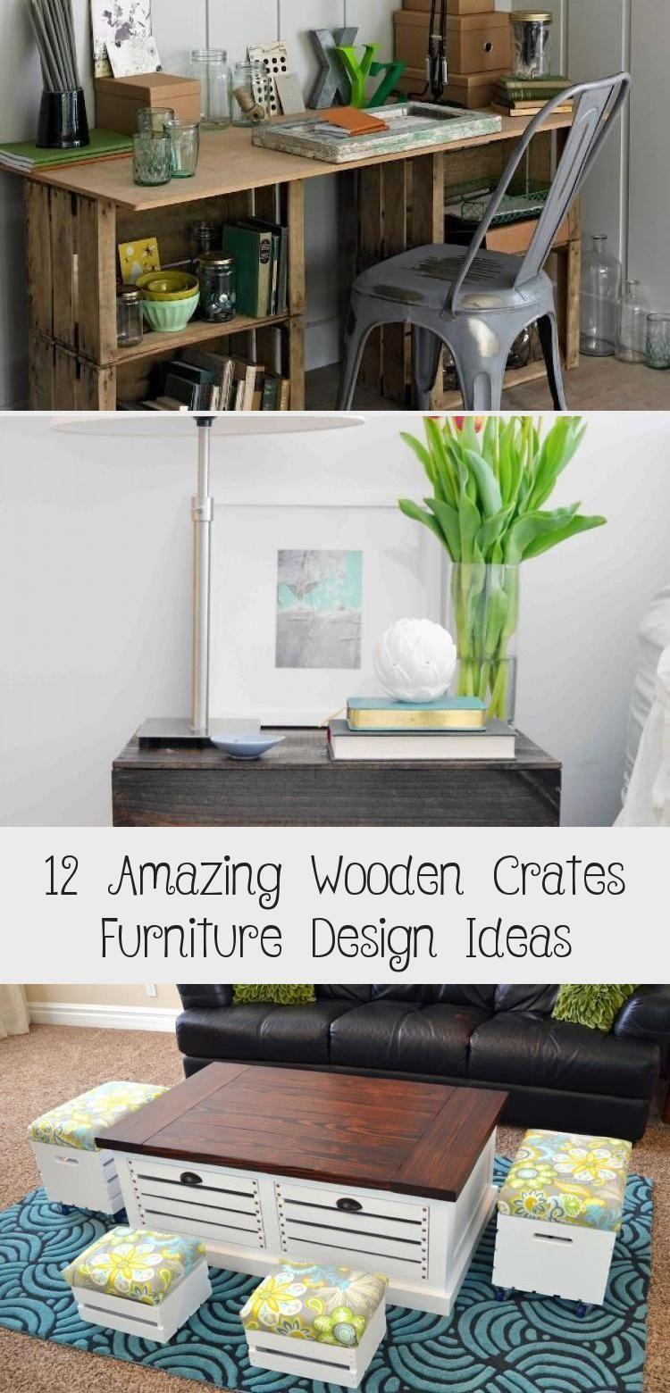 Photo of 12 erstaunliche Holzkisten Möbel Design-Ideen – Holzkisten können … – 1 …