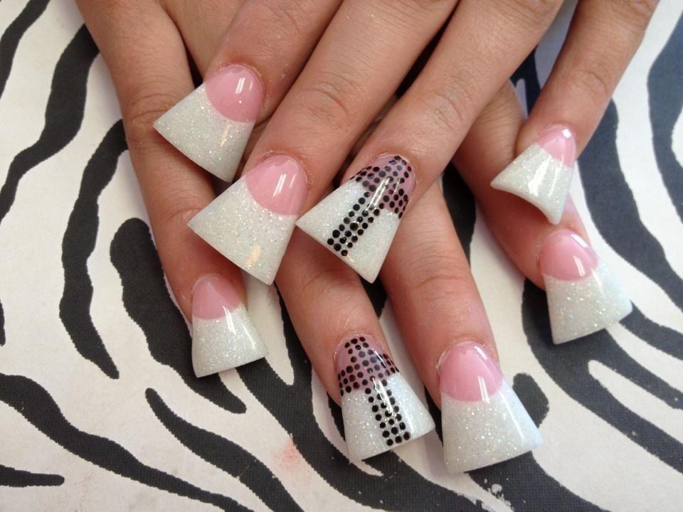 Flared nails | Long nails | Pinterest | Flare nails, French nails ...