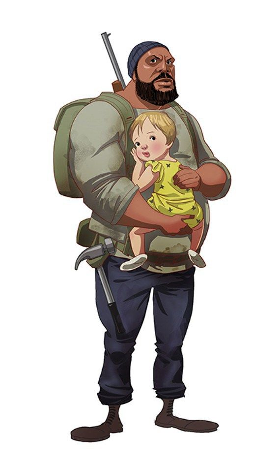 Les Personnages The Walking Dead Version Dessin Anime Tyreese Judith
