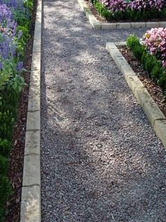 Material For A Natural Path Walkways Driveway Edging