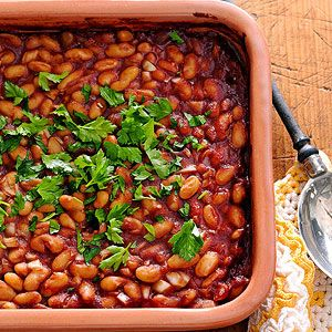 Baked White Beans From Better Homes and Gardens, ideas and improvement projects for your home and garden plus recipes and entertaining ideas.