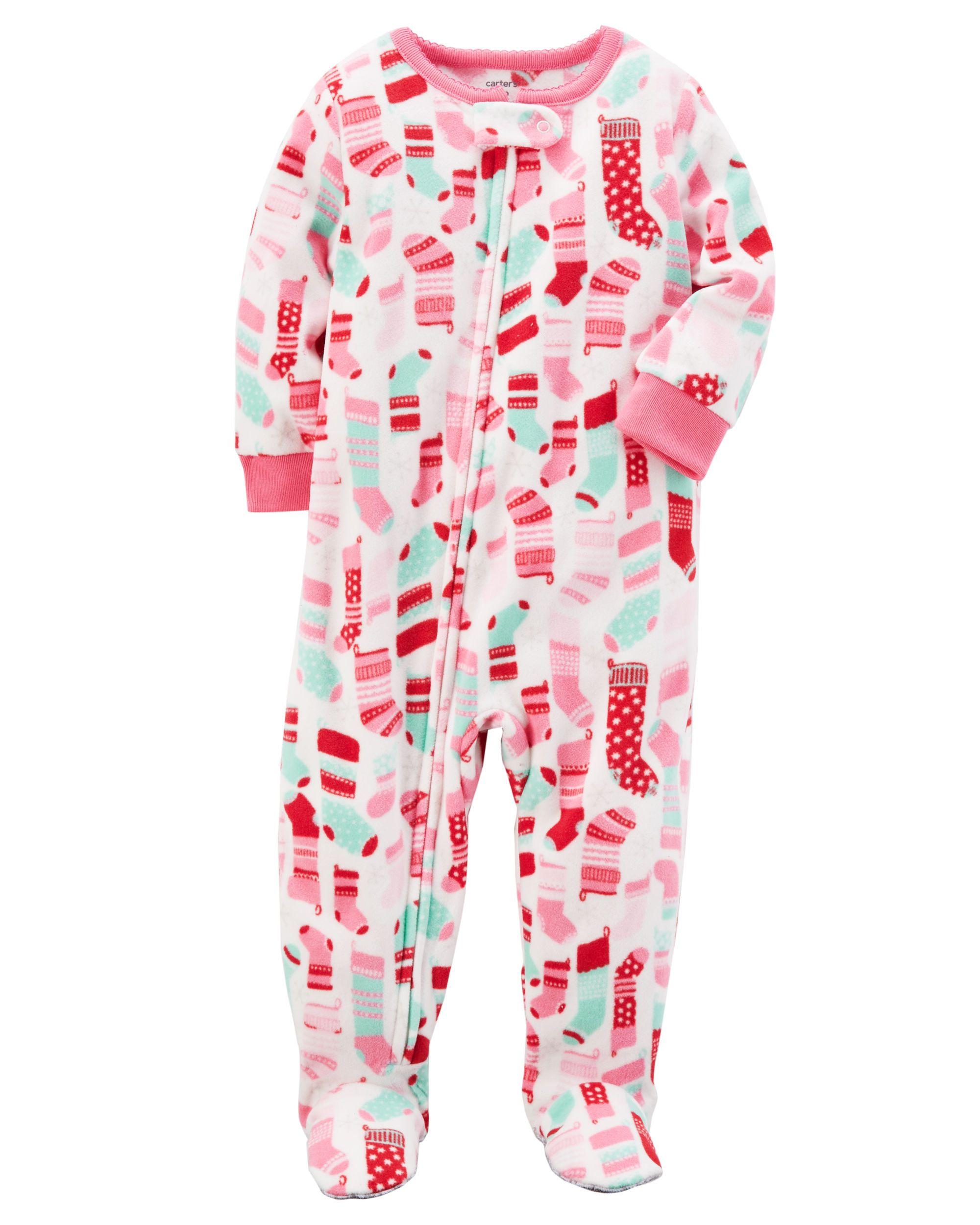 fe8117baf 1-Piece Christmas Fleece PJs