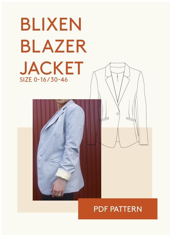 blazer jacket PDF sewing pattern for women   Jacken   Schnittmuster ...