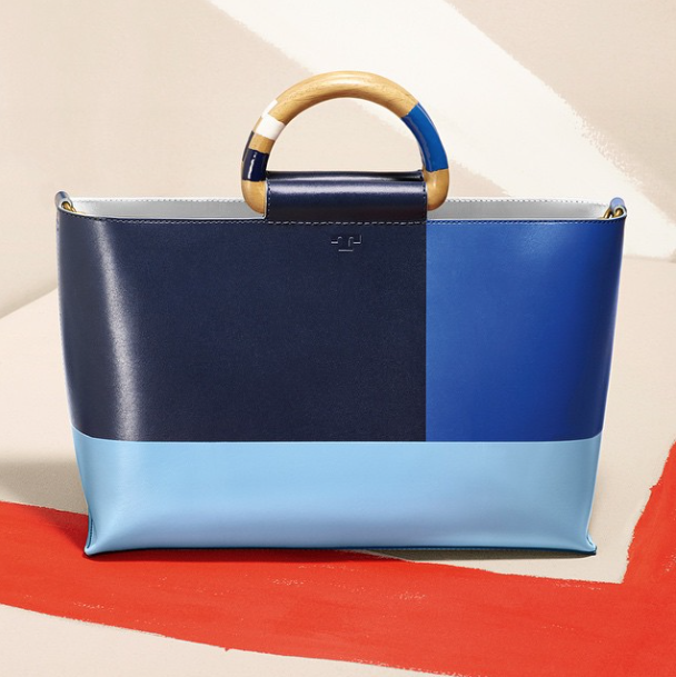 Tory Burch:  Our color-block tote #ToryBurchSummer15 http://torybur.ch/Color-BlockTote