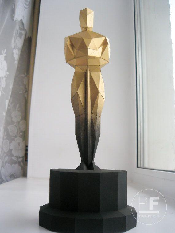 Oscar origami Oscar paper Oscar trophy Oscar figurine ...