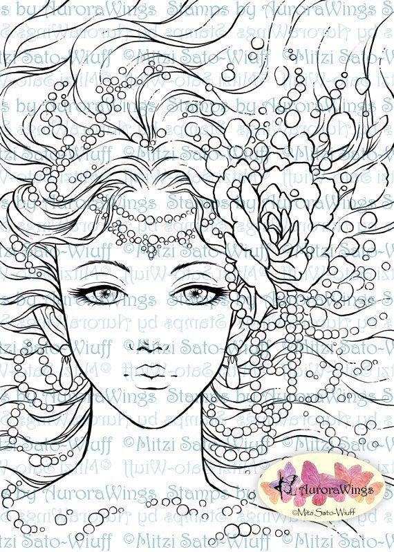 Digital Stamp Instant Download Pearls digistamp by AuroraWings ...