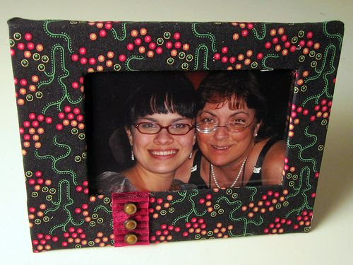 Cover A Frame With Fabric Make It Pinterest Fabric Frame