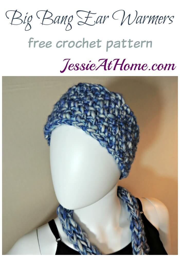 Big Bang Ear Warmers - a free #crochet pattern @jessie_athome ...