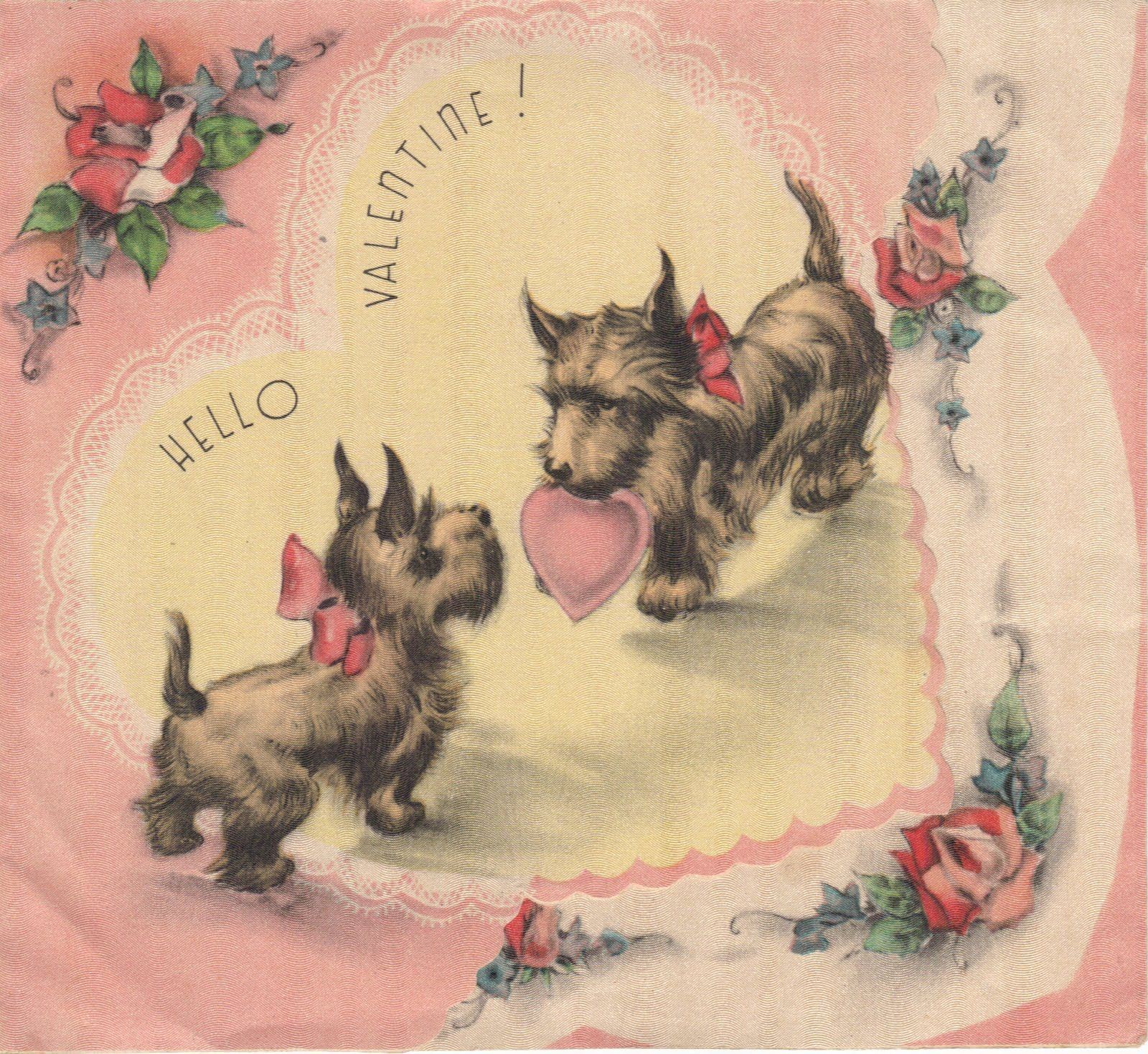 Scotties | One of our favorites to find on vintage cards are these beautiful ...