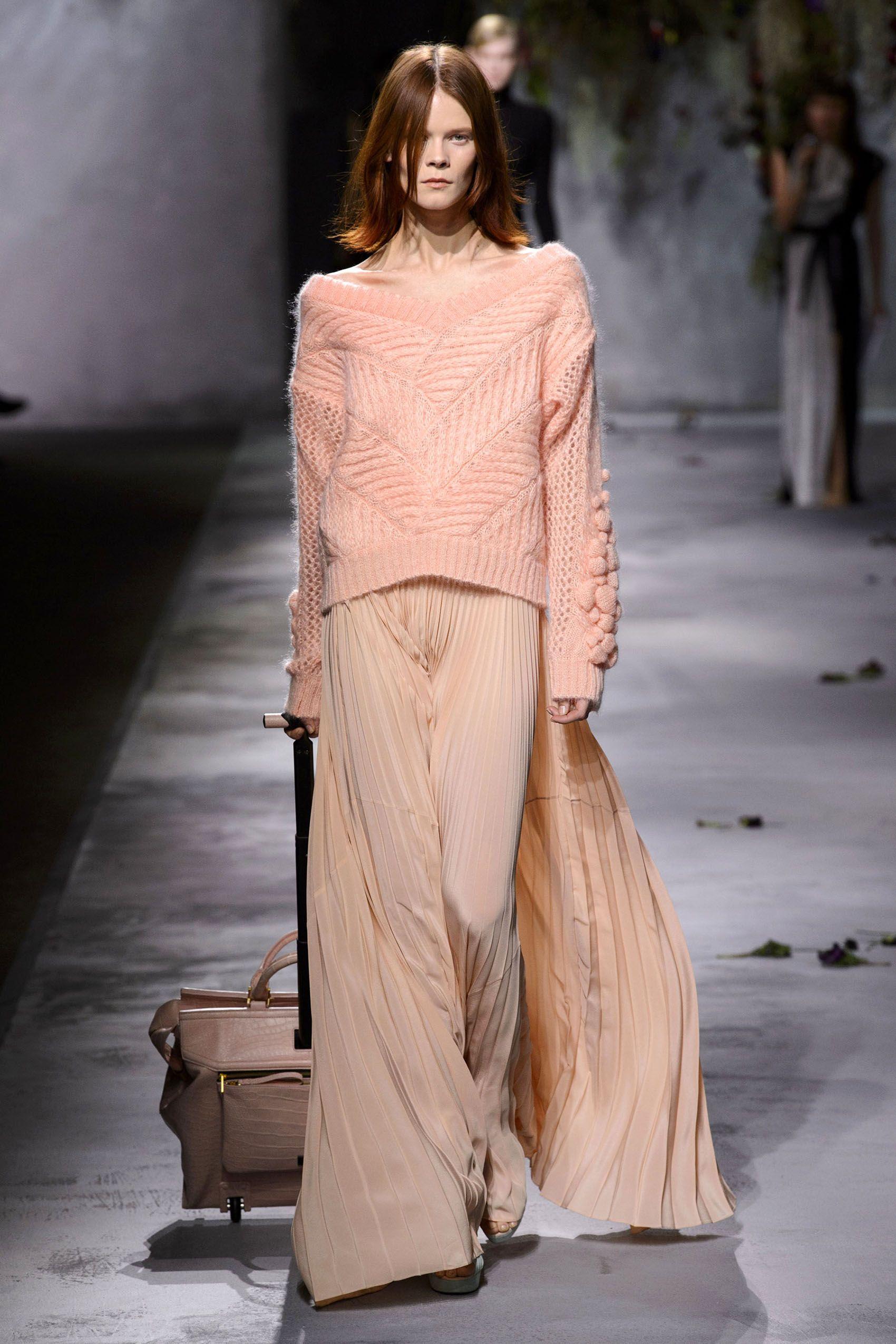 The best looks from paris fashion week fall silk skirt
