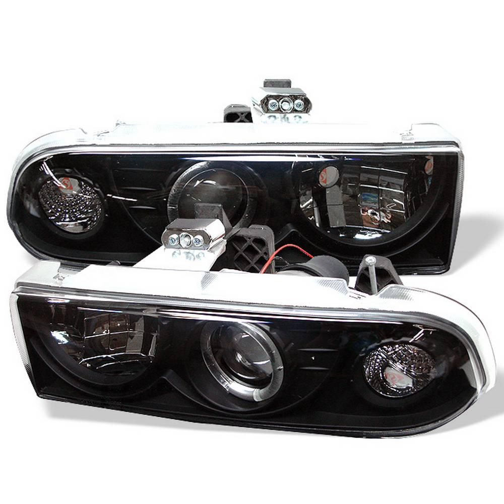 spyder auto chevy s10 98 04 chevy blazer 98 05 projector headlights led halo black [ 1000 x 1000 Pixel ]
