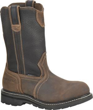 "Men's Carolina 10"" Aluminum Toe Wellington - Cork Harness/Black"