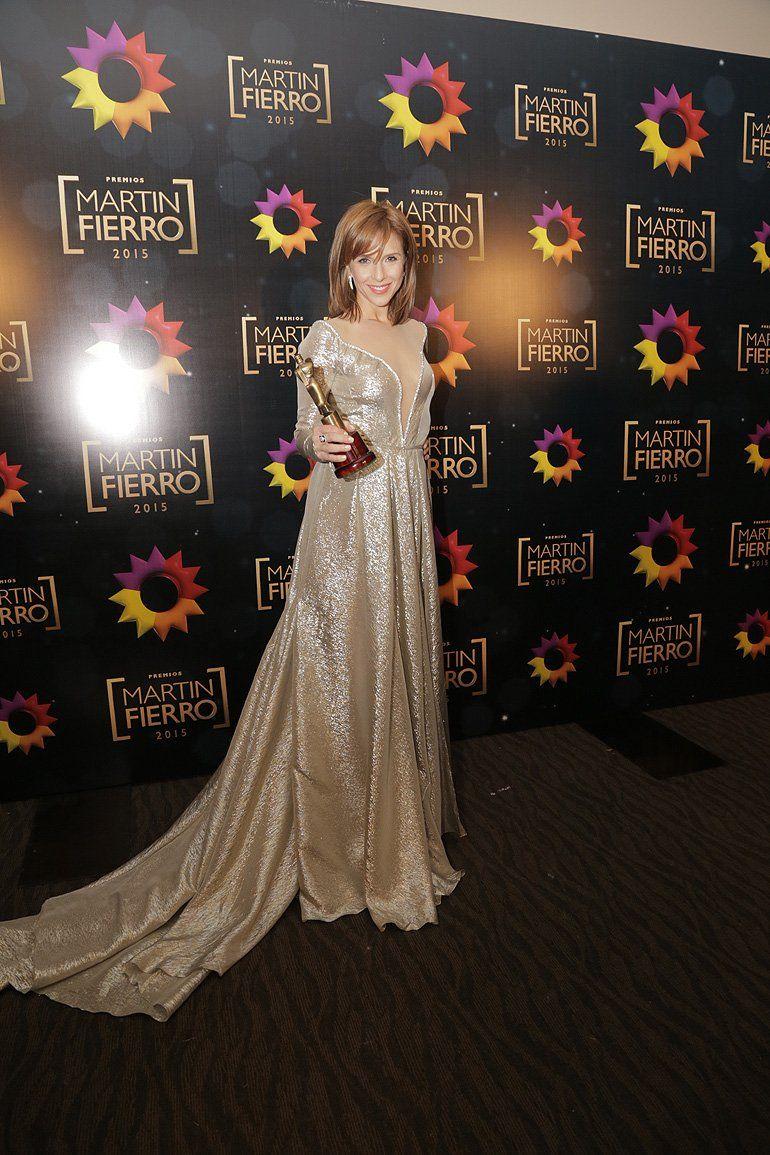 Mejor Actriz Protagónica en Ficción Diaria: Carla Peterson (Guapas / El Trece)  - Martín Fierro 2015