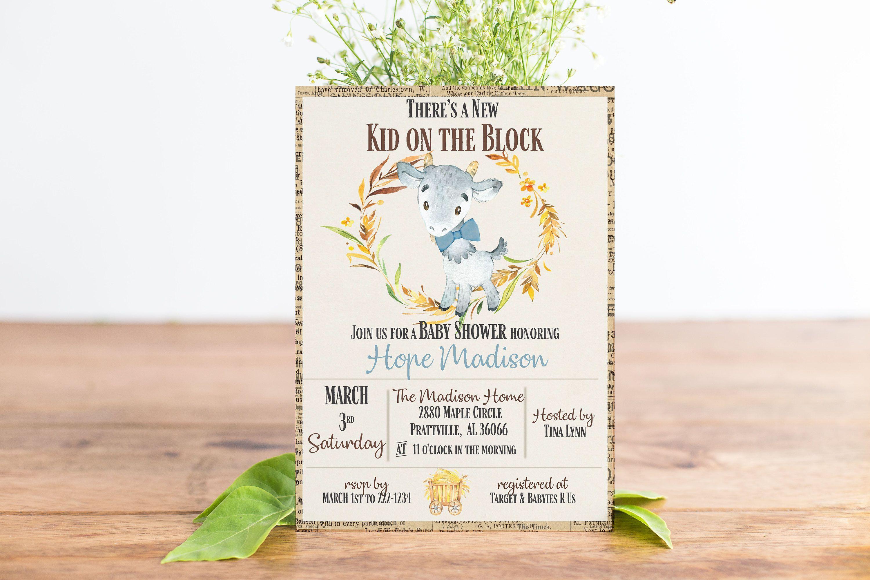Rustic Baby Shower Invitation, Printable Baby Shower Invitations ...