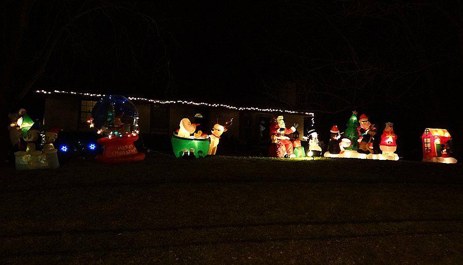 Clark Family Christmas light and music program Shawnee