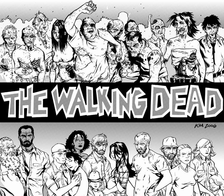 The Walking Dead Coloring Page Printable Coloring Pages