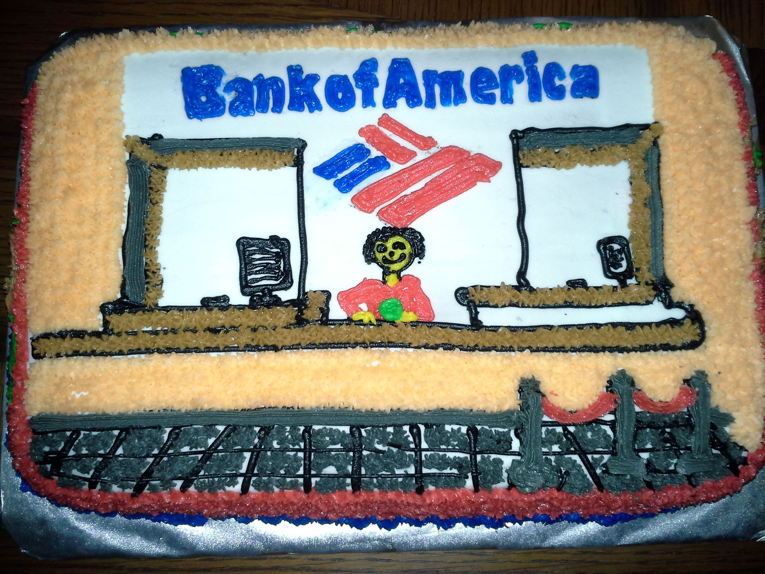Bank Of America Tellers Birthday Cakes Pinterest Banks And Cake