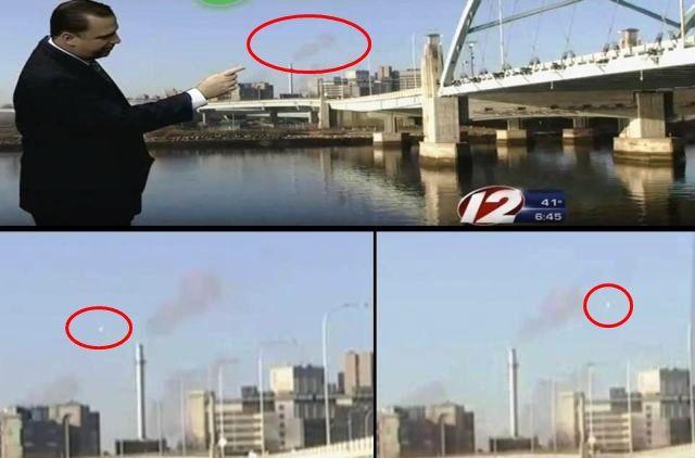 UFO Caught Live on WPRI-TV Providence, Rhode Island  UFO