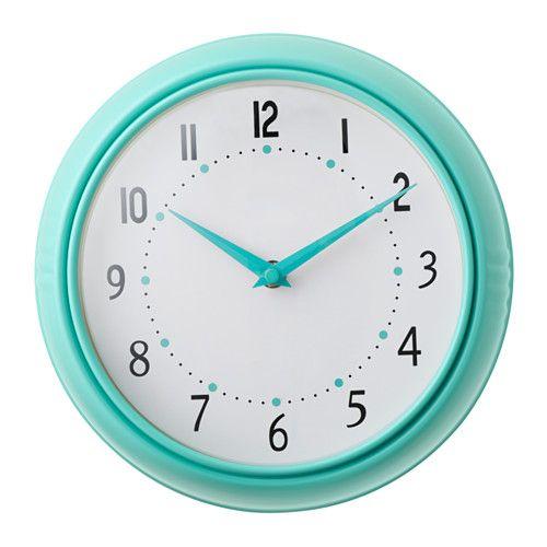 KVARTIG Wall clock turquoise W E D N E S D A Y Pinterest