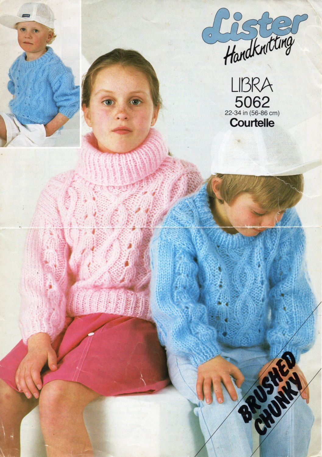Childrens sweater Knitting Pattern PDF Childrens jumper cowl neck ...
