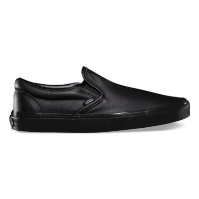 The Premium Leather Classic Slip-on has a low profile 9bc29220c32