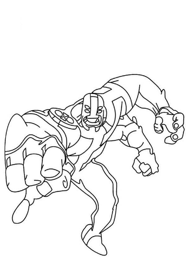 Four Arms From Ben 10 Omniverse Coloring Page Download Print Online Coloring Pages For Free C Coloring Pages Online Coloring Pages Cartoon Coloring Pages