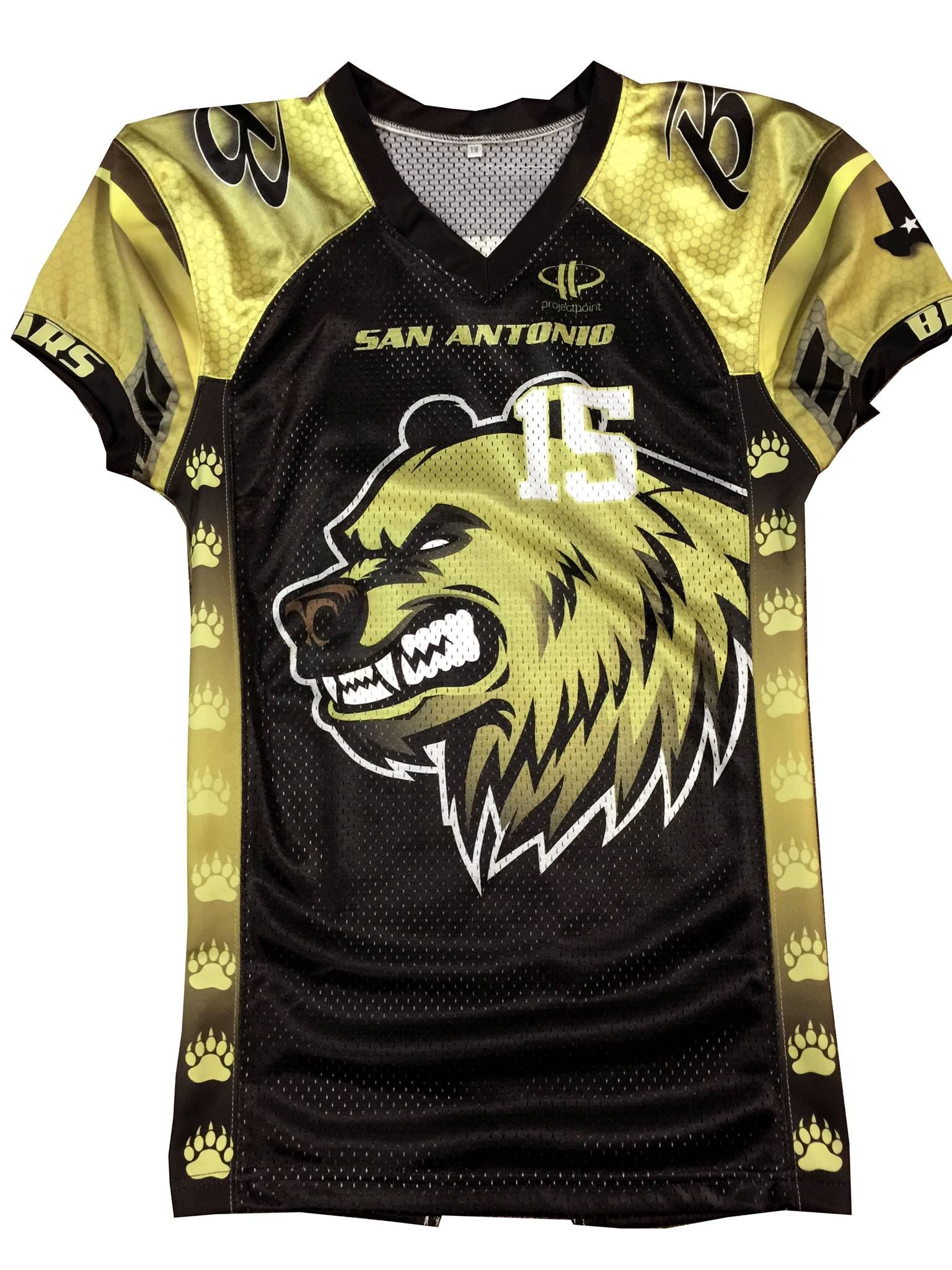ece3dd874 Sublimated Jersey For Bears Front Side