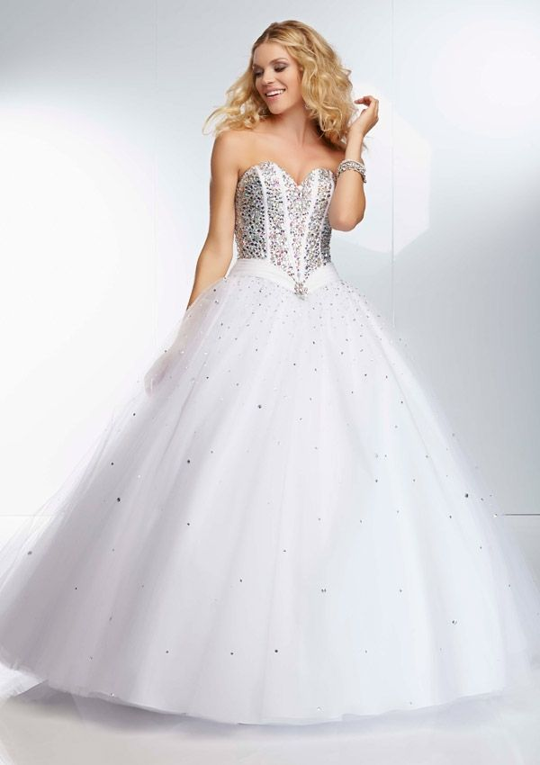 Prom Dress From Paparazzi By Mori Lee Style 95075 Beaded Satin And ...
