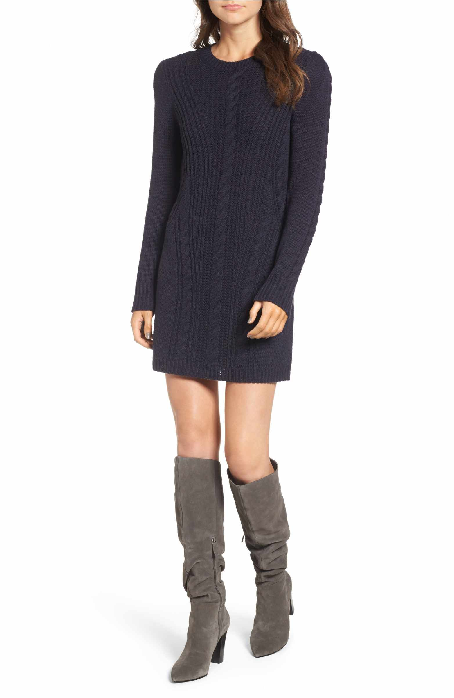 Main Image - Treasure   Bond x Something Navy Sweater Dress   My ... 70f45301042f