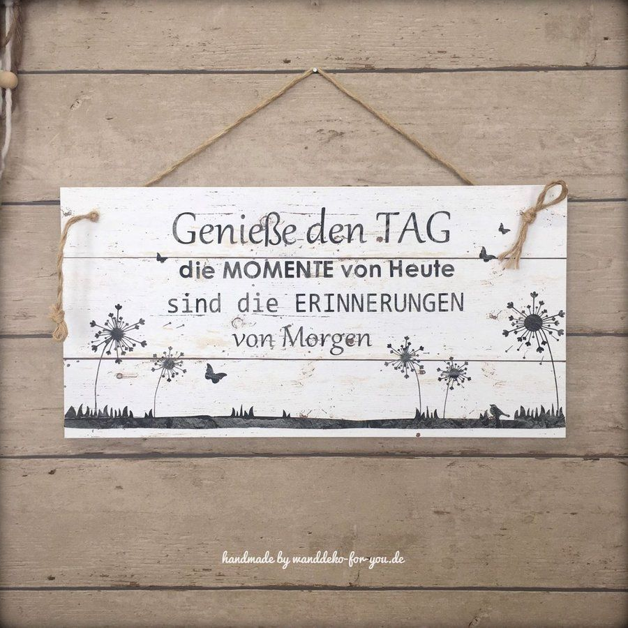 Photo of Handmade vintage sign with saying and dandelion, wooden sign wall decoration