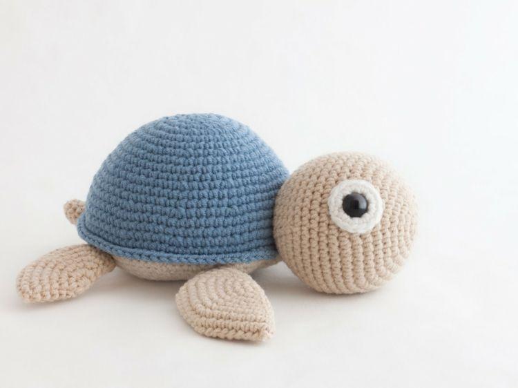 Häkeln Sie eine niedliche Wasserschildkröte | DIY Handarbeit ...