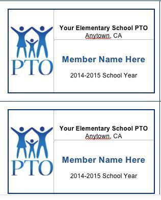 School Pto Membership Cards Pto Membership School Pto Pto