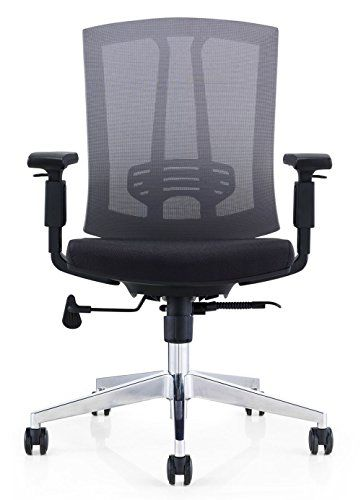 gm seating hampton lota mid back work chair with mesh back