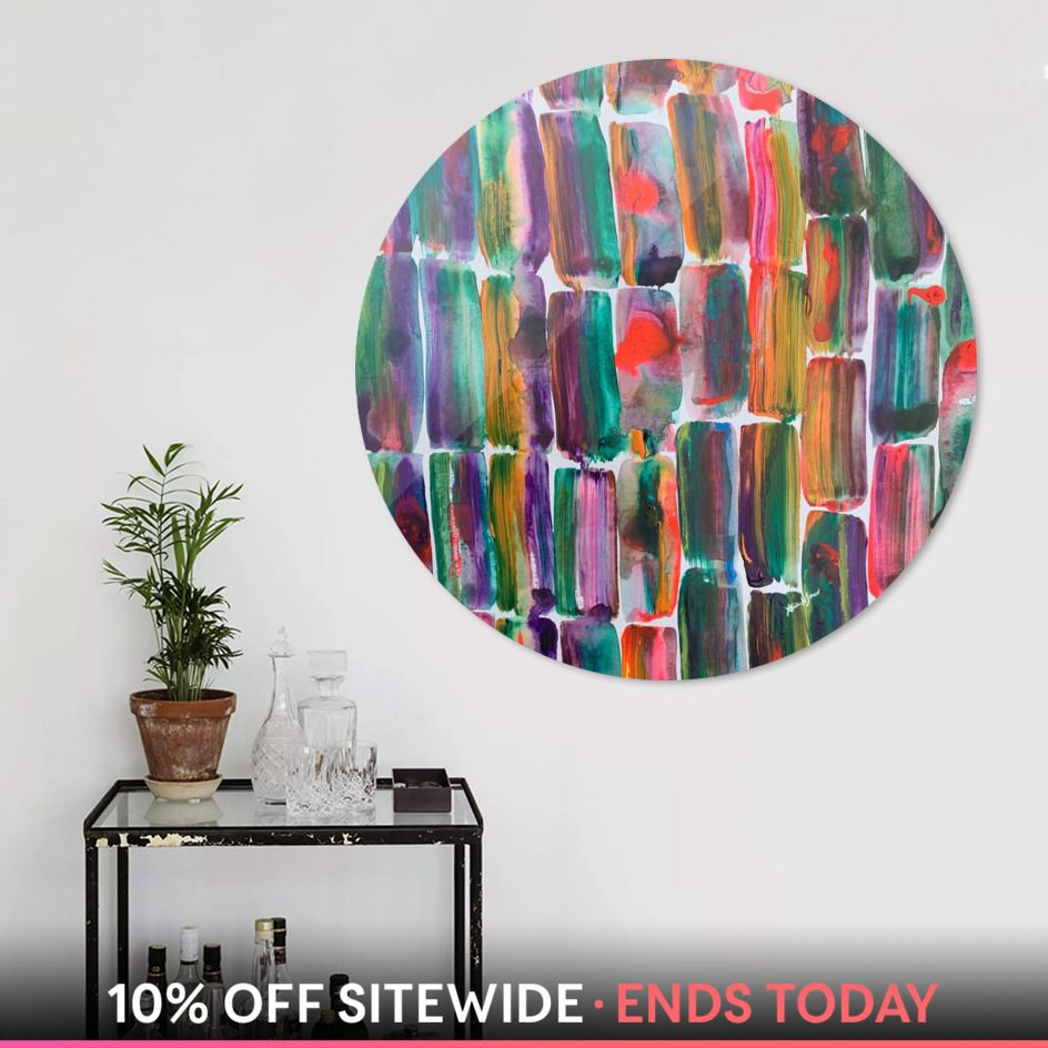 Discover «Rainbow Earth, Sugarcane», Exclusive Edition Disk Print by Alicia Jones - From $84 - Curioos #nyc #brooklyn #restaurant #nycdining #islandchairs #nycapartmentsearch #nycapartmentlife #watercolor #nycartists #barstools #bars #stools #chairs  #mysociety6 #shareyoursociety6 #California #brooklynhomesellers #brooklynhomesales #brooklynhomes #californiahomes #southernhomedesign #southernhomemag #southernhomedecor #southernhomemagazine #southernhomesofthecarolinas