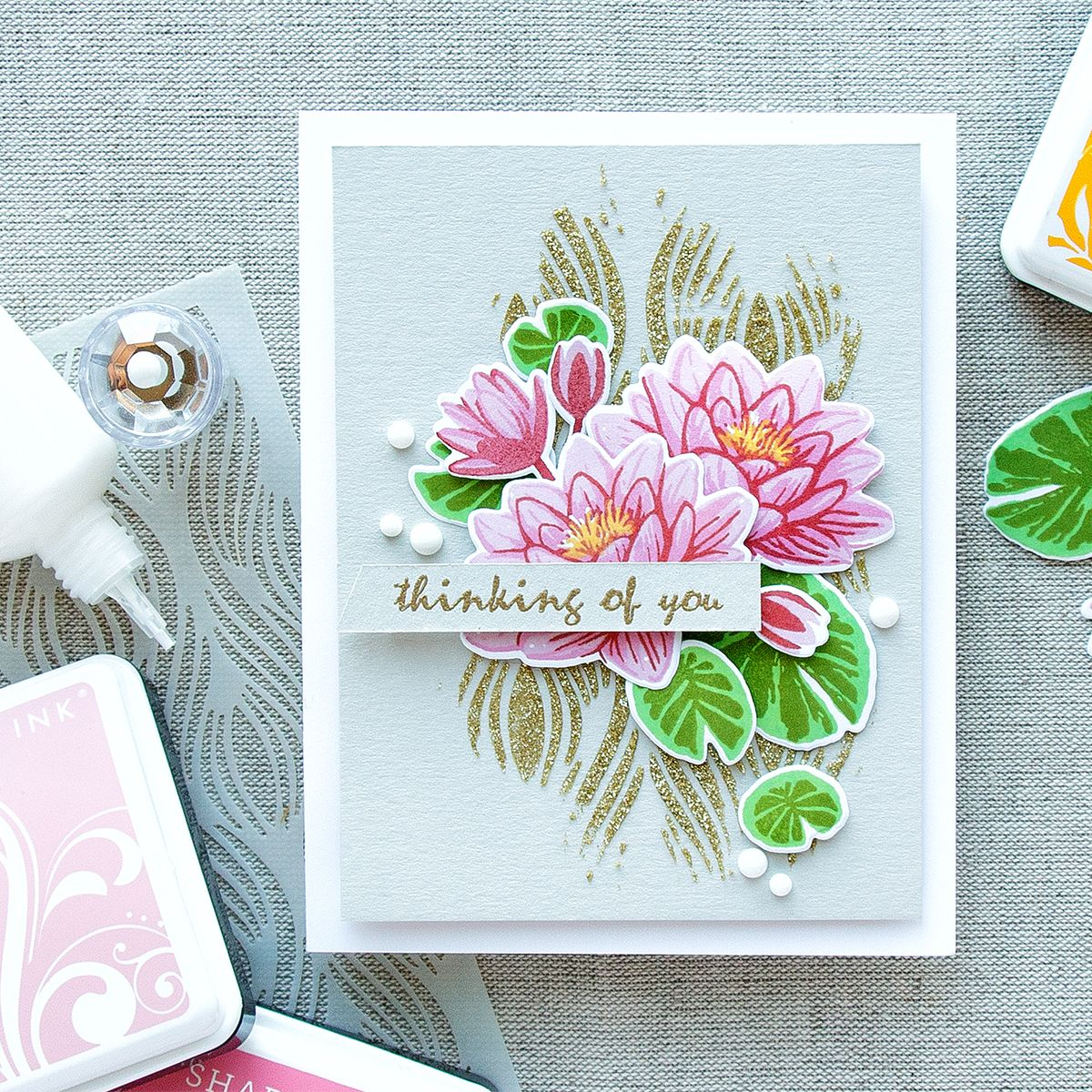 Hero Arts | Color Layering Water Lilies - Thinking of You Card