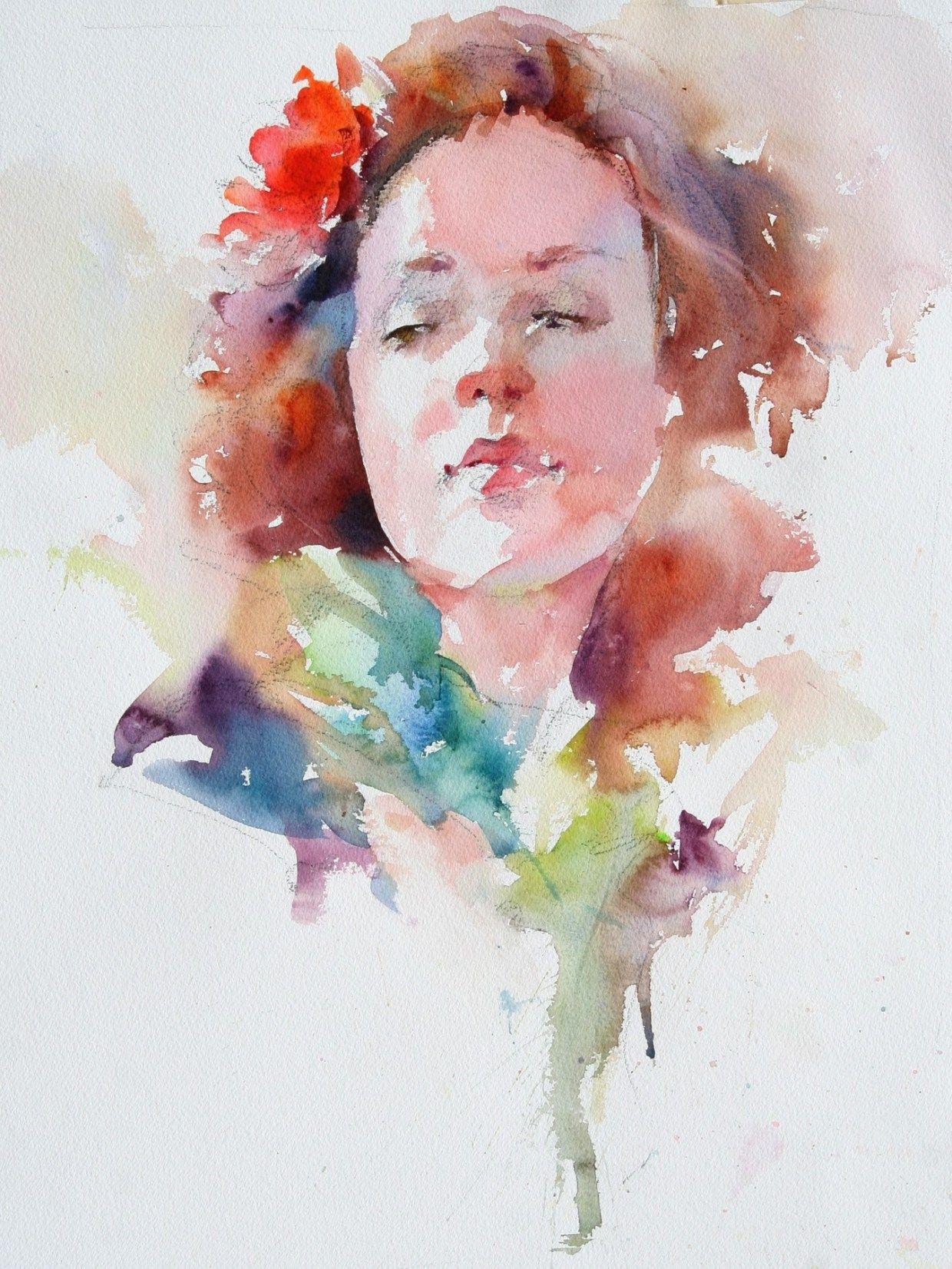 Janet Rogers Workshop August 3 5 2017 Watercolor Portraits