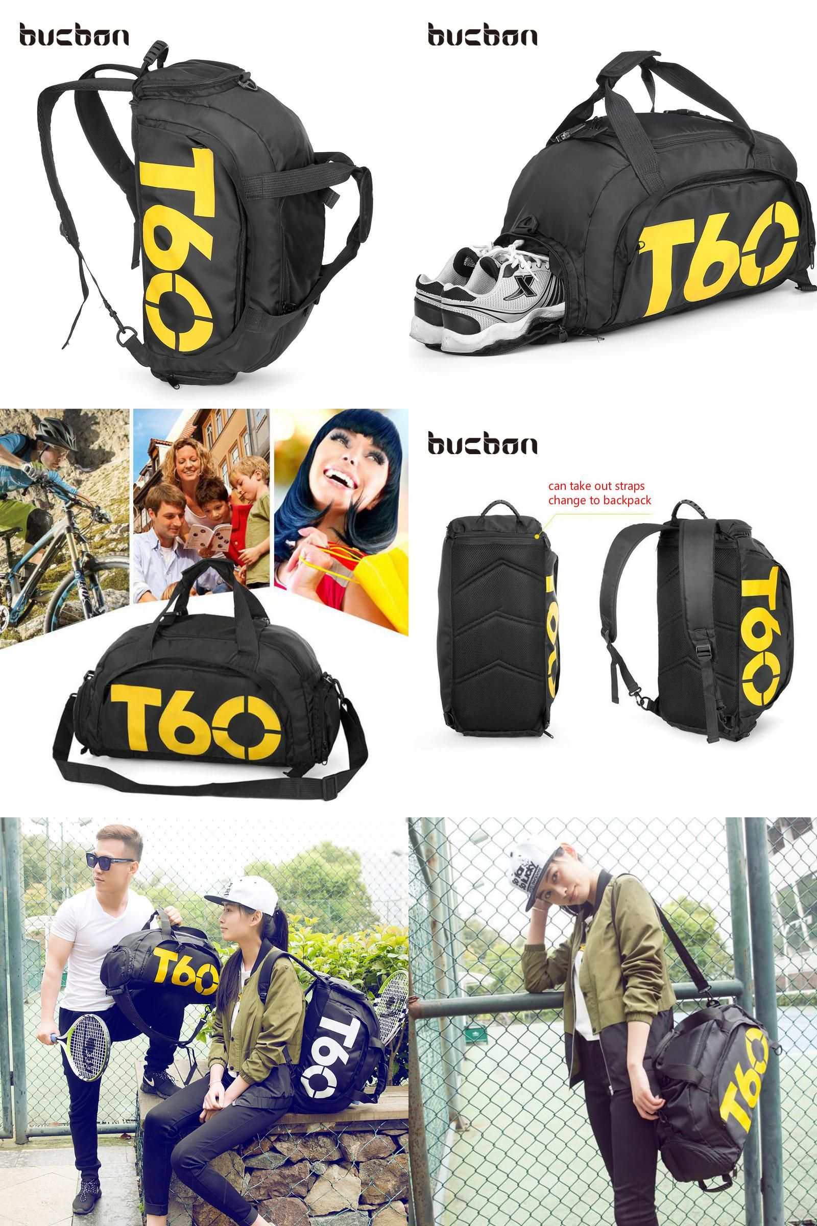 Visit to Buy  Bucbon Multi-use Portable Sports Gym Backpack Shoulder Bag  Separated 63675445475ec