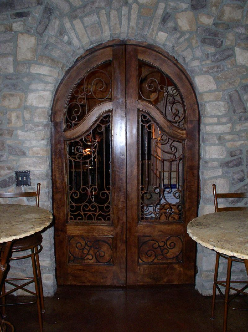 Custom Arch Wrought Iron Entry Door Tuscan Design