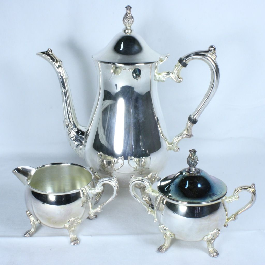 Sheridan Silver Tea Set Value | Vintage Sheridan Taunton Silversmiths silver -plated tea set | Proxibid .  sc 1 st  Pinterest & Sheridan Silver Tea Set Value | Vintage Sheridan Taunton ...
