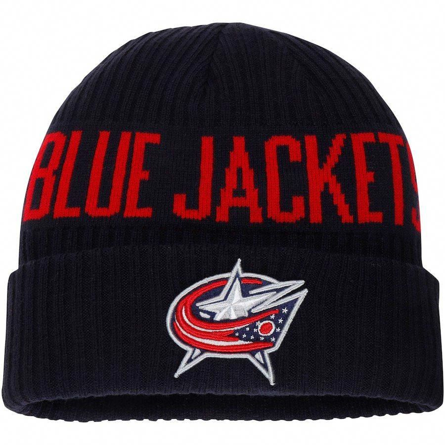 12abaa0bd08 Men s Columbus Blue Jackets Fanatics Branded Navy True Classic Bold Cuffed Knit  Hat