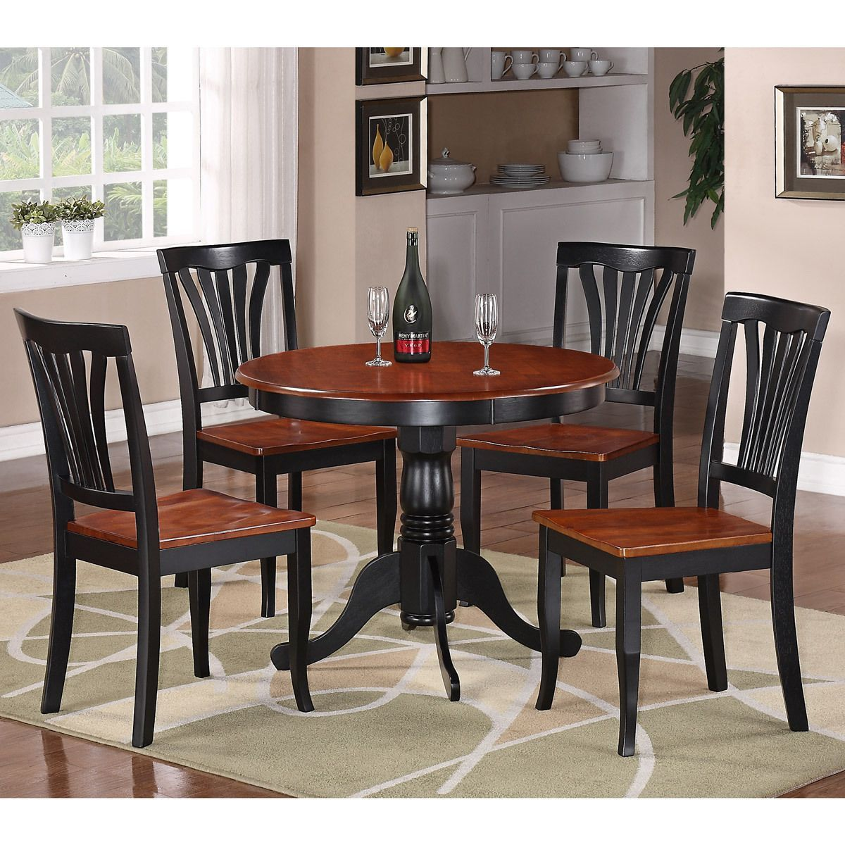 This Piece Dinette Set Includes Dining Table And Solid Wood Seat - 5 seater dining table