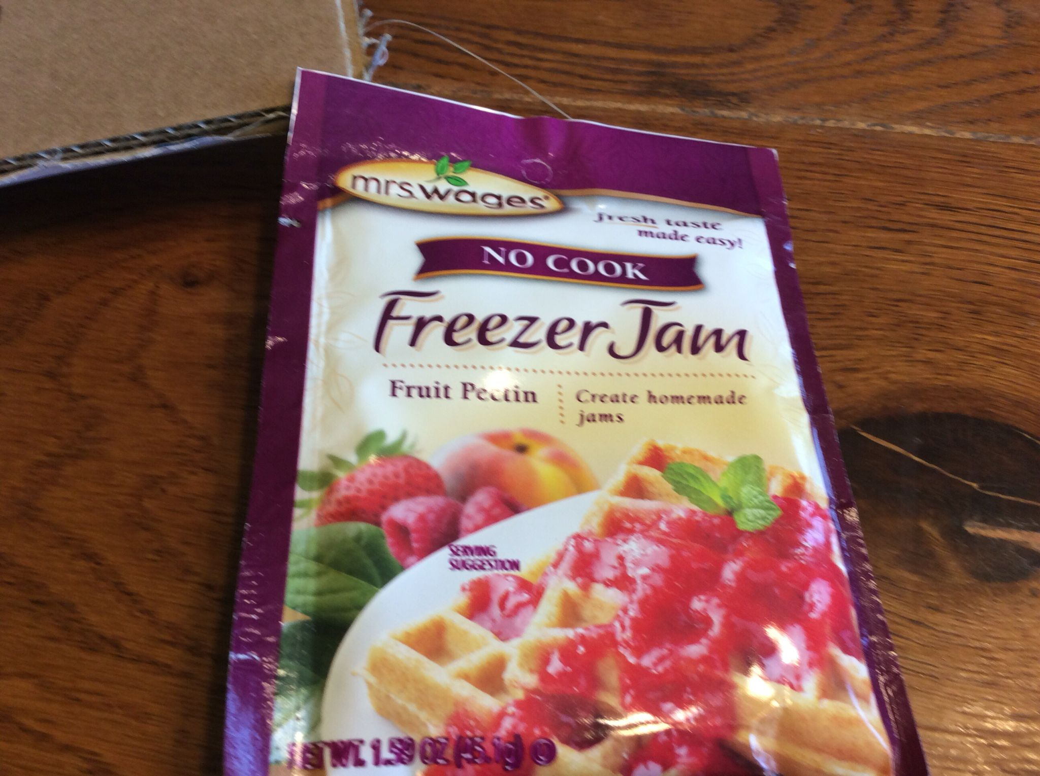 Buy one of these packets for every 2 lbs of strawberries. Follow direction on package. Do not buy regular pectin only freezer.